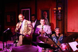 As guest of Delfeayo Marsalis at the Dirty Dog Jazz Cafe in Detroit - Grosse Pointe