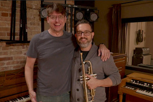 With James Wagner, at the Strobe Studios in the Humboldt Park neighborhood of Chicago